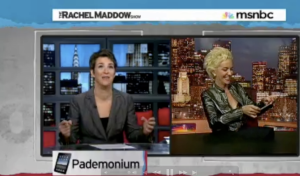Xeni Jardin & Rachel Maddow on the iPad