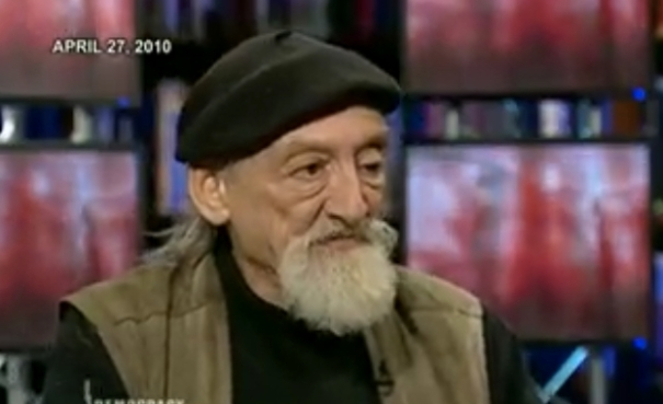 John Ross during his last Democracy Now! interview